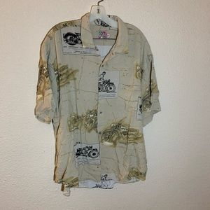 Jams World Panther Motorcycle Hawaiian Shirt